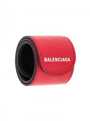 Браслет с принтом логотипа Balenciaga. Цвет: красный