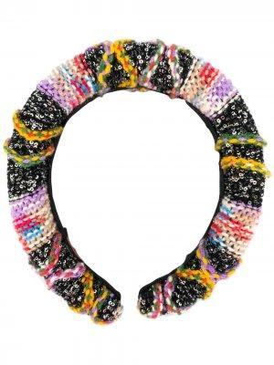 Резинка для волос в стиле колор-блок Missoni. Цвет: черный