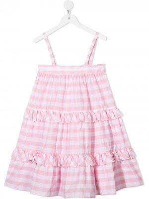 Платье-сарафан в полоску Piccola Ludo. Цвет: белый