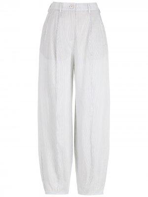 Зауженные брюки с завышенной талией Giorgio Armani. Цвет: белый