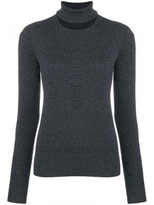 Split neck sweater Chalayan. Цвет: серый
