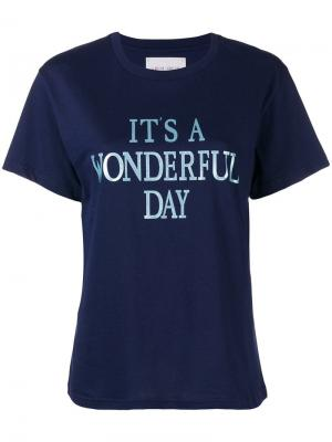 Its a Wonderfull Day T-shirt Alberta Ferretti. Цвет: синий