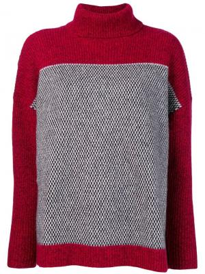 Джемпер в двух тонах Le Mont St Michel. Цвет: красный
