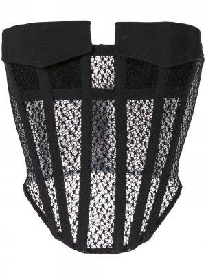Кружевной корсет с карманами Dion Lee. Цвет: черный