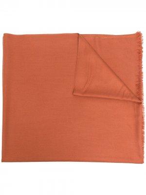 Кашемировая шаль N.Peal. Цвет: оранжевый