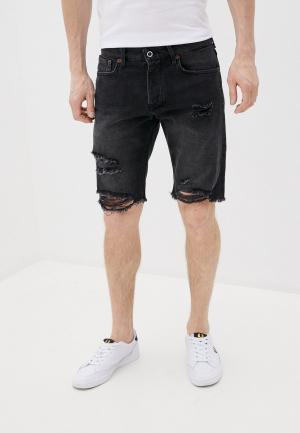 Шорты джинсовые Pepe Jeans. Цвет: серый