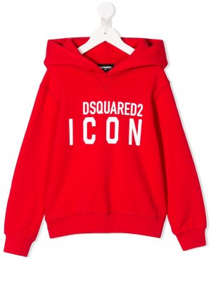Худи с логотипом Dsquared2 Kids. Цвет: красный