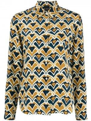 Блузка с геометричным принтом Aspesi. Цвет: желтый