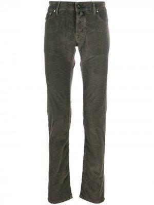 Вельветовые брюки Comfort Fit Jacob Cohen. Цвет: зеленый