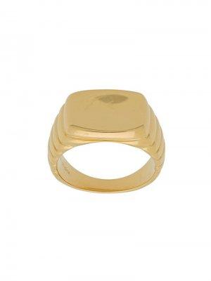 Перстень Shore Maria Black. Цвет: золотистый