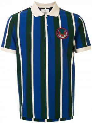 Полосатая рубашка поло с короткими рукавами Kent & Curwen. Цвет: синий