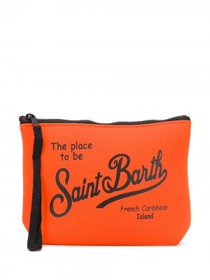 Клатч на молнии Mc2 Saint Barth. Цвет: оранжевый