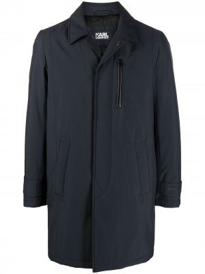 Легкое пальто миди Karl Lagerfeld. Цвет: синий