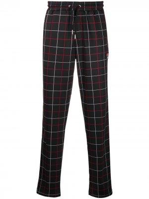 Спортивные брюки с принтом Fila. Цвет: черный