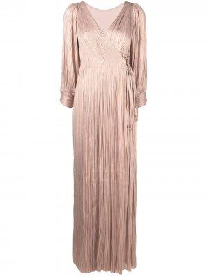 Вечернее платье с пышными рукавами Maria Lucia Hohan. Цвет: розовый