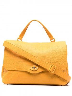 Большая сумка-тоут Postina Zanellato. Цвет: желтый