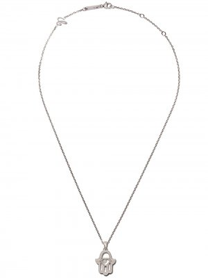 18kt white gold Good Luck Charms diamond pendant necklace Chopard. Цвет: белый