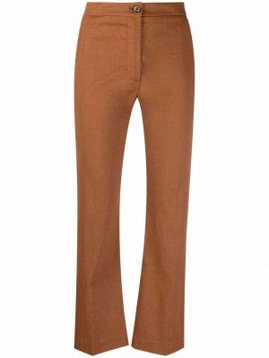 Укороченные расклешенные брюки Pinko. Цвет: коричневый