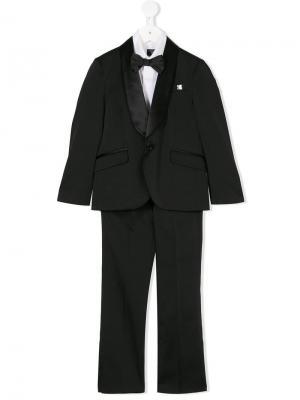 Вечерний костюм-тройка с бабочкой Carlo Pignatelli. Цвет: черный