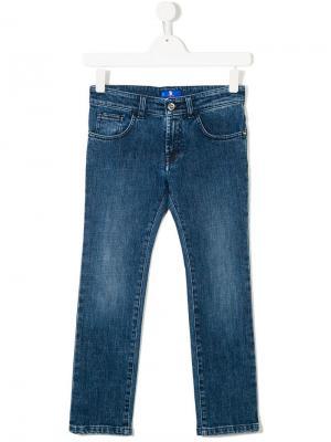 Классические джинсы слим Stefano Ricci Kids. Цвет: синий