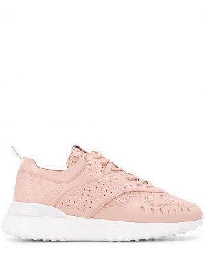 Tods кроссовки с перфорацией Tod's. Цвет: розовый