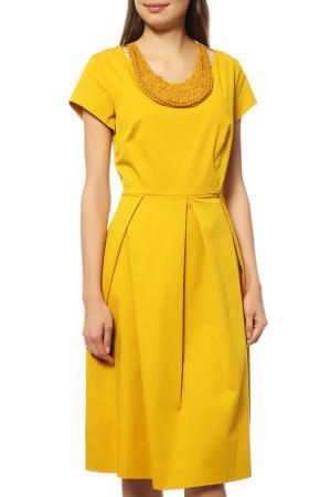 Платье MAXMARA. Цвет: желтый