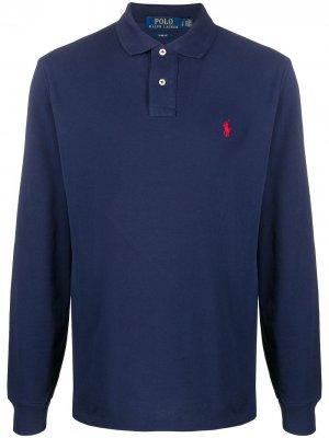 Рубашка поло с длинными рукавами Polo Ralph Lauren. Цвет: синий