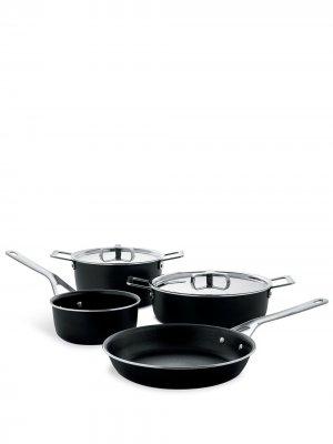 Набор сковородок и кастрюль (шесть предметов) Alessi. Цвет: черный