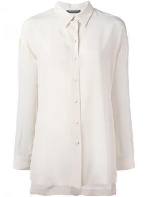 Классическая рубашка Alberta Ferretti. Цвет: нейтральные цвета