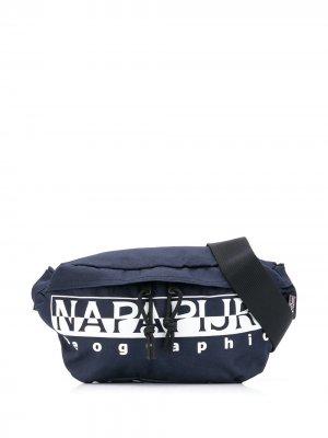 Поясная сумка Happy Napapijri. Цвет: синий