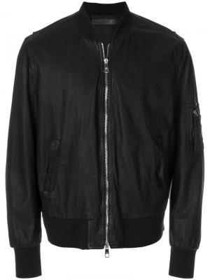 Куртка-бомбер с потертой отделкой Neil Barrett. Цвет: черный