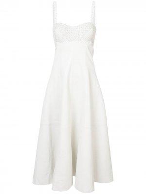 Sleeveless quilted midi dress Natasha Zinko. Цвет: нейтральные цвета