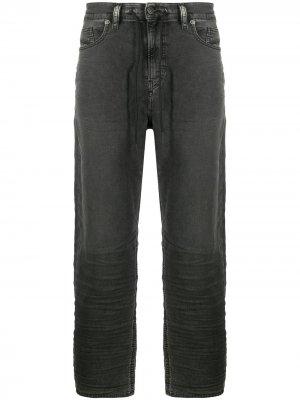 Широкие джинсы с кулиской Diesel. Цвет: черный