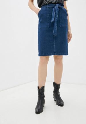 Юбка джинсовая Camomilla Italia. Цвет: синий