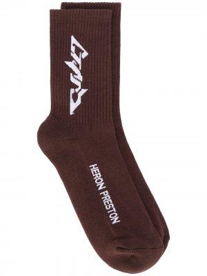 Носки Techno Heron Preston. Цвет: коричневый