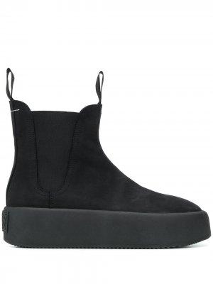 Ботинки челси на платформе MM6 Maison Margiela. Цвет: черный