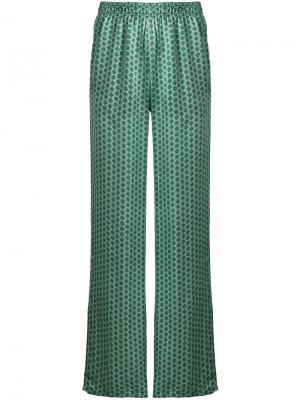 Расклешенные брюки с вышивкой Faith Connexion. Цвет: зеленый