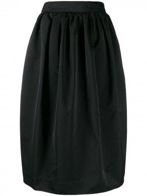 Пышная юбка миди Rochas. Цвет: черный