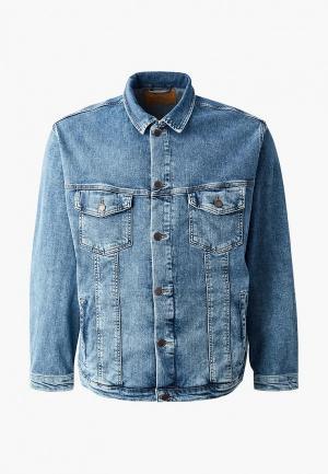 Куртка джинсовая Jack & Jones. Цвет: синий