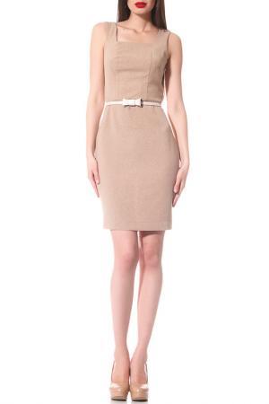 Платье Evercode. Цвет: коричневый