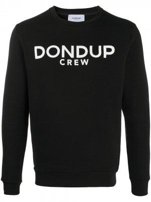 Толстовка с тисненым логотипом Dondup. Цвет: черный