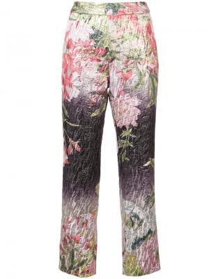 Укороченные брюки Birds Of Paradise Josie Natori. Цвет: разноцветный