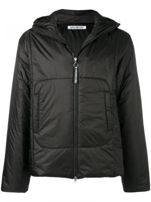 Hooded padded jacket Dirk Bikkembergs. Цвет: черный
