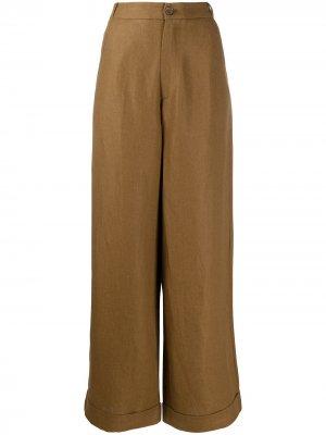 Широкие брюки с завышенной талией Société Anonyme. Цвет: коричневый