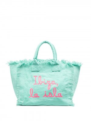 Пляжная сумка с принтом Ibiza Mc2 Saint Barth. Цвет: зеленый