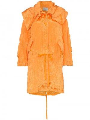 Легкая куртка Poiret. Цвет: оранжевый