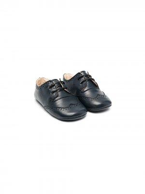 Пинетки на шнуровке La Stupenderia. Цвет: синий