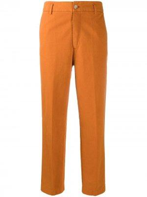 Укороченные брюки кроя слим Forte. Цвет: оранжевый