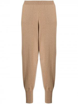 Укороченные зауженные брюки Stella McCartney. Цвет: коричневый