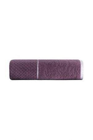 Полотенце Жаккард 70X140 Molu Arya home collection. Цвет: фиолетовый